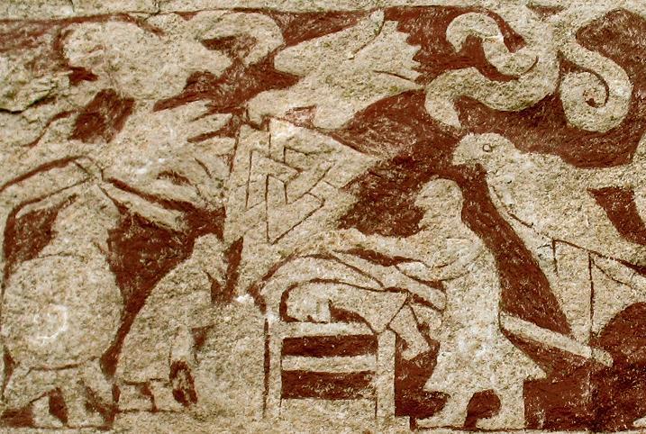 Стура-Хаммарский камень I (Готланд, Швеция), деталь изображения