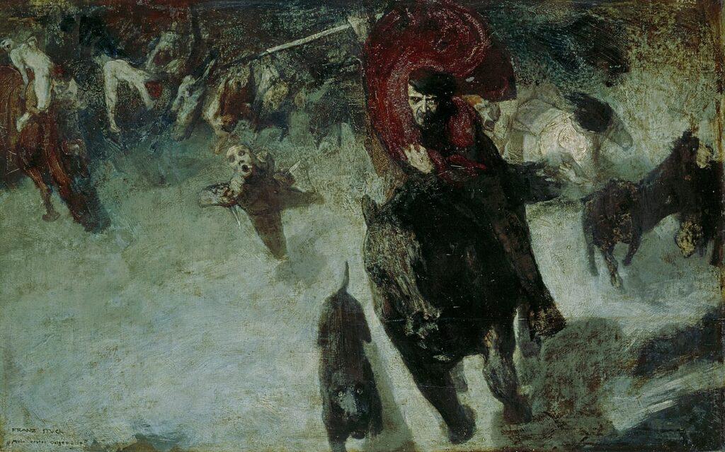 """Франц фон Штук, """"Дикая охота"""", ок. 1888"""