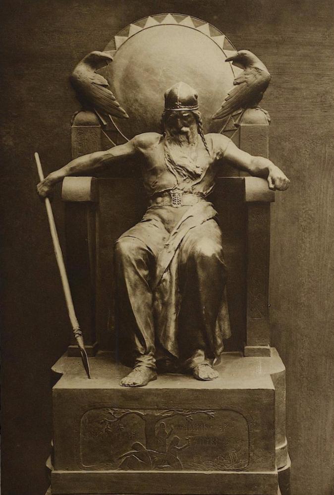 "Рудольф Мезон, ""Вотан"". Мрамор, ок. 1890"