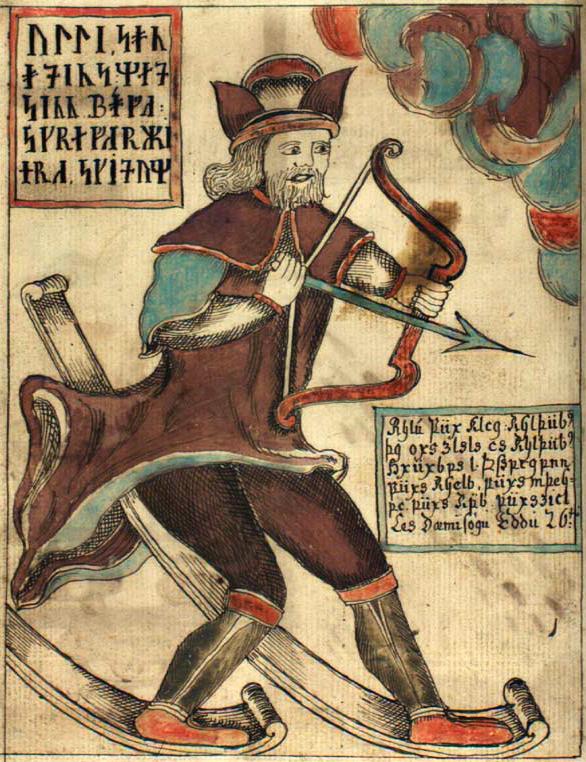 """""""Улль"""". Иллюстрация из исландской рукописи NKS 1867 4to (XVIII в.)"""