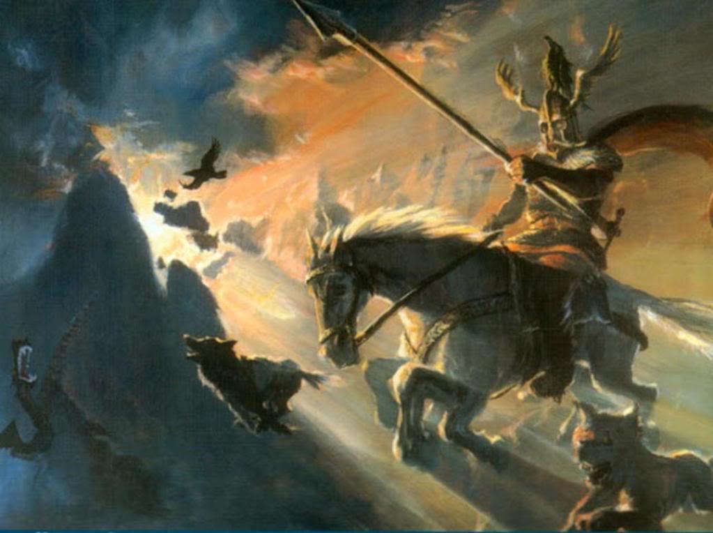 Один скачет на Слейпнире. Молитва Одину о защите от зла