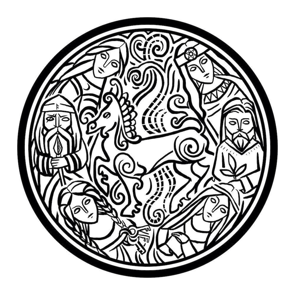 """Рим Битик, """"Божества из Второго Мерзебургского заклинания"""", Б1"""